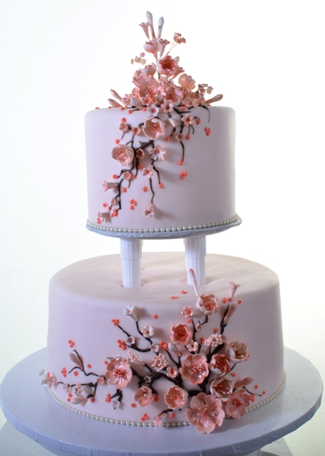 Pastry Palace Las Vegas Cake #1352-Cherry Blossoms