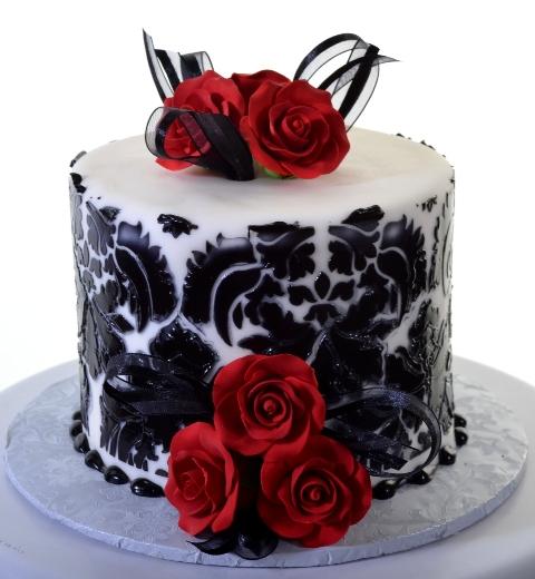 Pastry Palace Las Vegas - Cake 1353 - Dainty Damask
