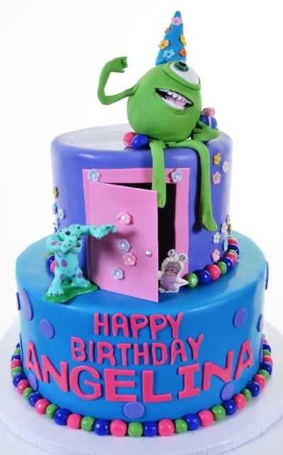 Cool 1400 Monster University Wedding Cakes Fresh Bakery Pastry Personalised Birthday Cards Epsylily Jamesorg