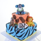 Pastry Palace Las Vegas - Baby Shower Cake 1407-Baby Boy Beasts