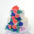 Pastry Palace Las Vegas Cake #1411 - Bouquet of Colors