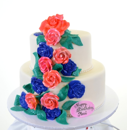 Pastry Palace Las Vegas Cake #1411-Bouquet Colors
