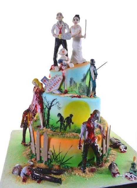Pastry Palace Las Vegas Cake #1449 - Zombie Wedding