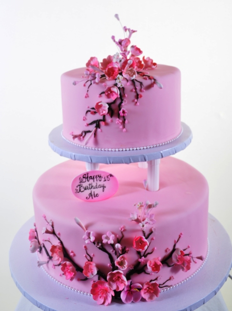 Pastry Palace Las Vegas Cake #1468 - Cherry Blossoms For You