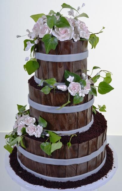 Pastry Palace Las Vegas - Blooming Baskets - Wedding Cake #1479