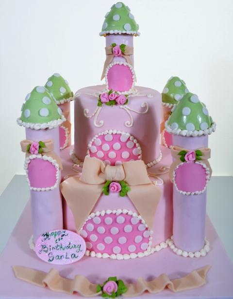 Pastry Palace Las Vegas - Kids Cake #1491 - Polka Dot Chateau