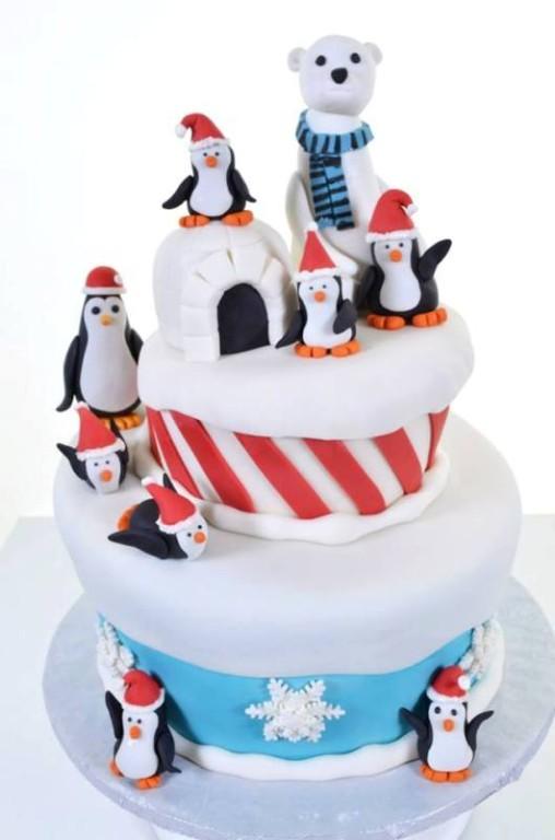 Pastry Palace Las Vegas - Kids Cake #1537 - Penguin Party