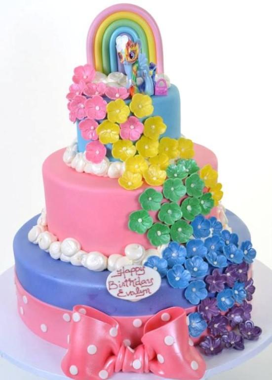 Pastry Palace Las Vegas Kids Cake #1538 - Birthday Wishes From Rainbow Dash