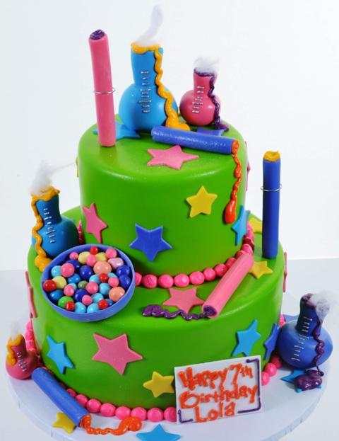 Pastry Palace Las Vegas - Kids Cake #1562 - Willie Wonka's Candy Lab