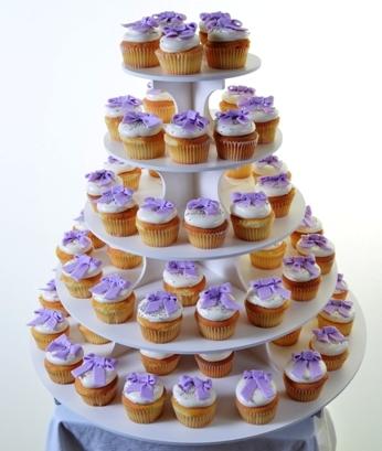 Pastry Palace Las Vegas Cupdakes #1359 - Lavender Bow