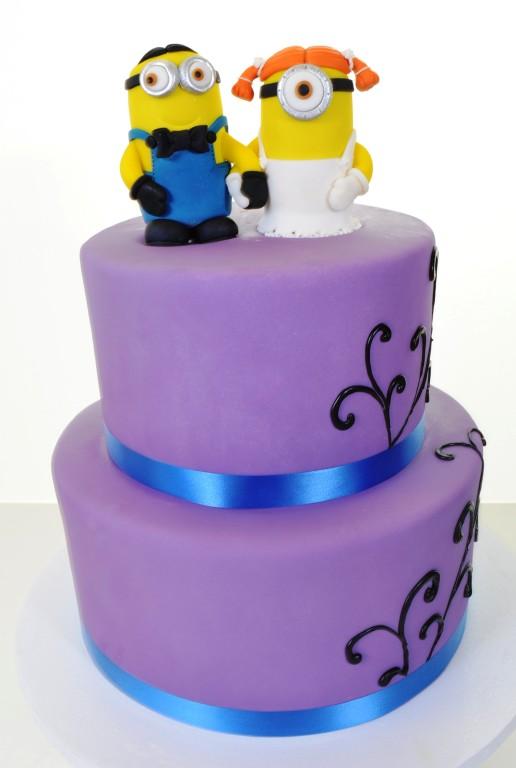 Pastry Palace Las Vegas Cake #1593 - A Minion Wedding