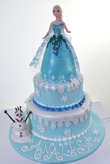 Pastry Palace Kids Cake #1633 - Frozen (Elsa & Olaf)