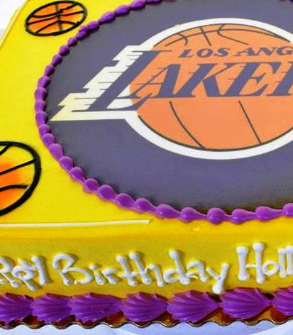 Marvelous 1658 Lakers Birthday Wedding Cakes Fresh Bakery Pastry Funny Birthday Cards Online Sheoxdamsfinfo