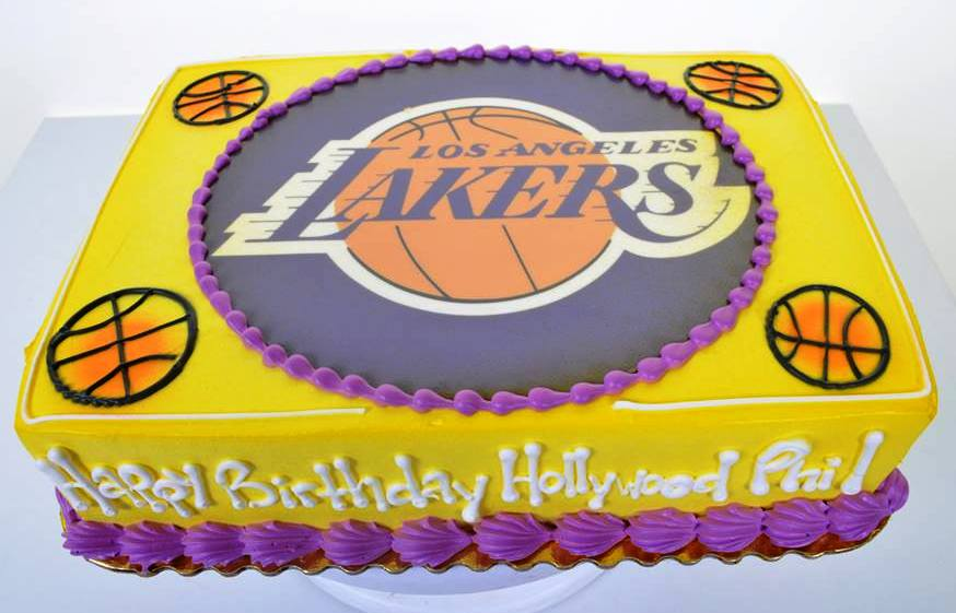 Superb 1658 Lakers Birthday Wedding Cakes Fresh Bakery Pastry Funny Birthday Cards Online Sheoxdamsfinfo