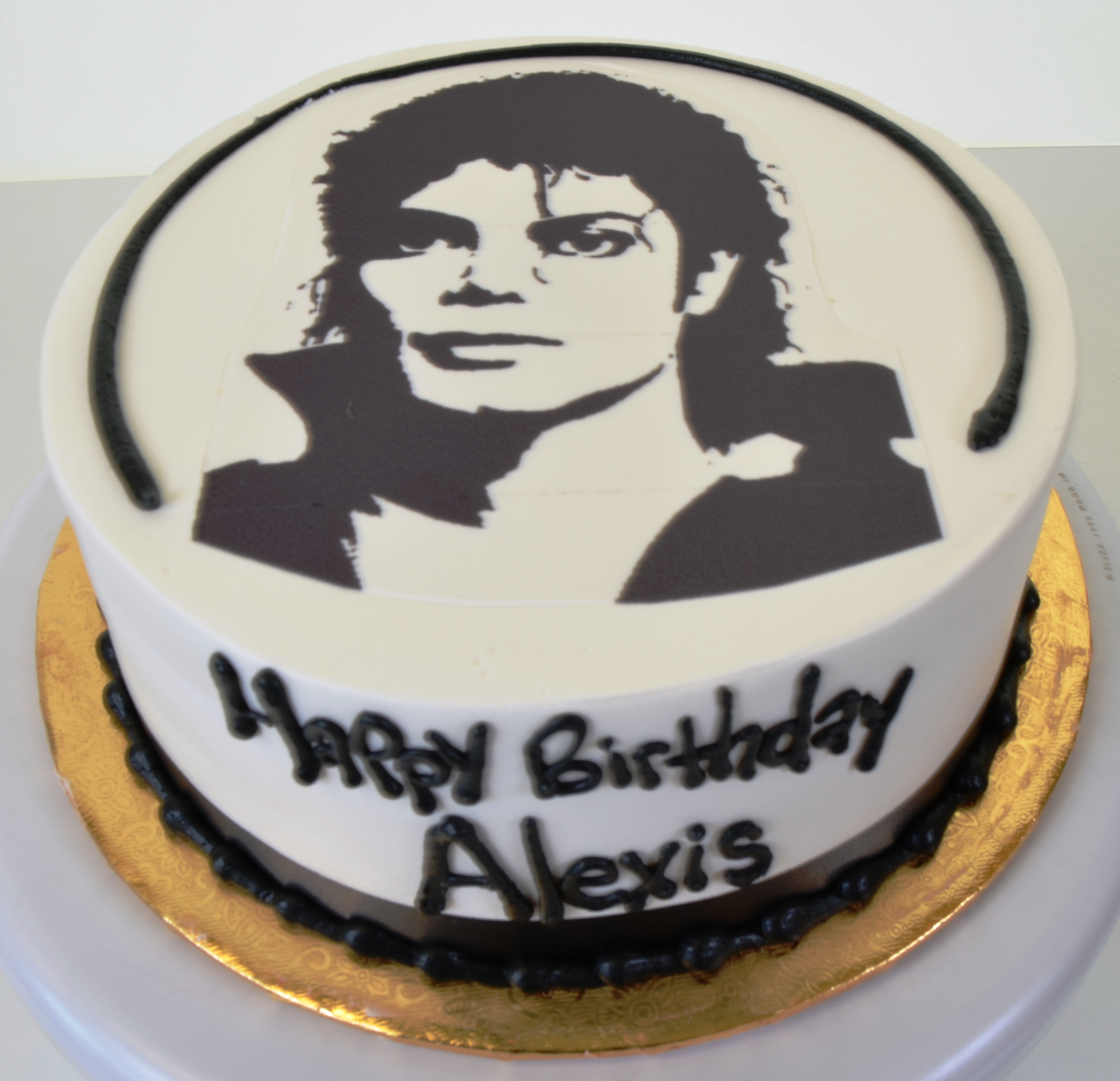 Outstanding 1677 Michael Jackson Wedding Cakes Fresh Bakery Pastry Personalised Birthday Cards Cominlily Jamesorg