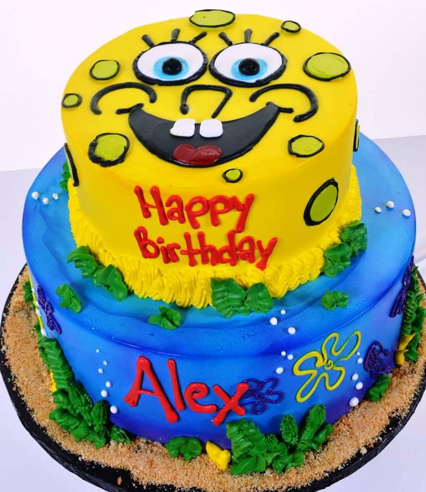 Fabulous 1680 Spongebob Squarepants Wedding Cakes Fresh Bakery Birthday Cards Printable Inklcafe Filternl