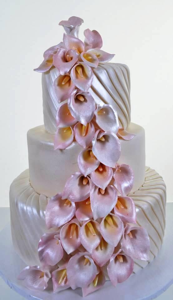 Pastry Palace Las Vegas Cake #1683 - Calla Lilies