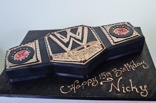 Fabulous 1696 Wwe Championship Wedding Cakes Fresh Bakery Pastry Funny Birthday Cards Online Alyptdamsfinfo