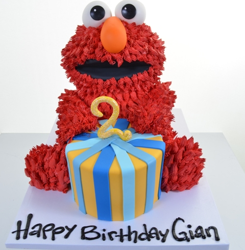 With A Custom Kids Cake By Pastry Palace 1981 Elmos Here