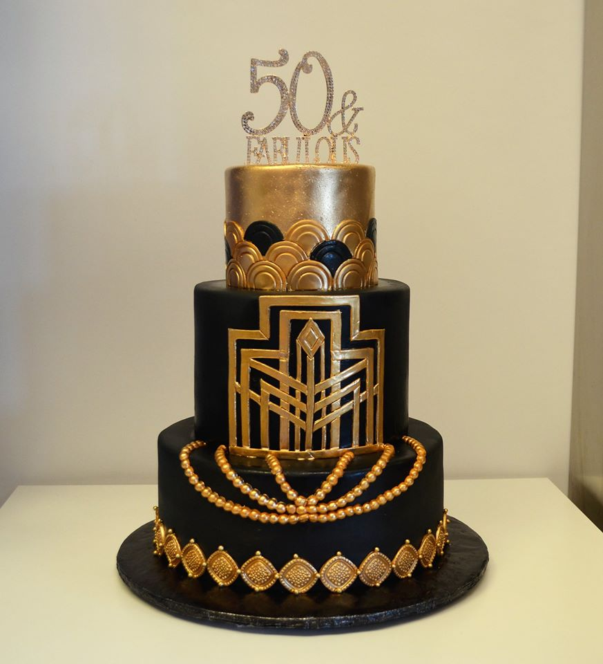 Magnificent 50Th Birthday Cakes Wedding Cakes Fresh Bakery Pastry Palace Funny Birthday Cards Online Elaedamsfinfo